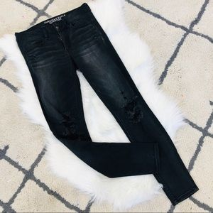 American Eagle 🦅 charcoal skinny jeans 6